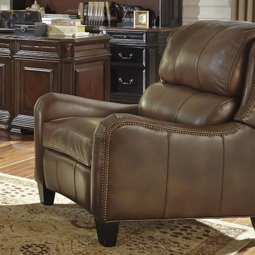 Flexsteel Latitudes-Lukas Transitional Chair with Bustle Back and Nailhead Trim