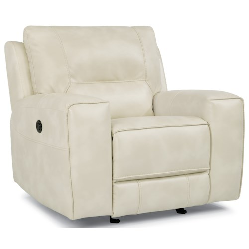 Flexsteel Latitudes-Molino Contemporary Power Reclining Chair with Track Arms