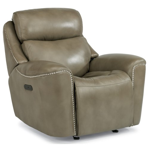 Flexsteel Latitudes-Mystic Power Glider Recliner with Adjustable Headrest and USB Port