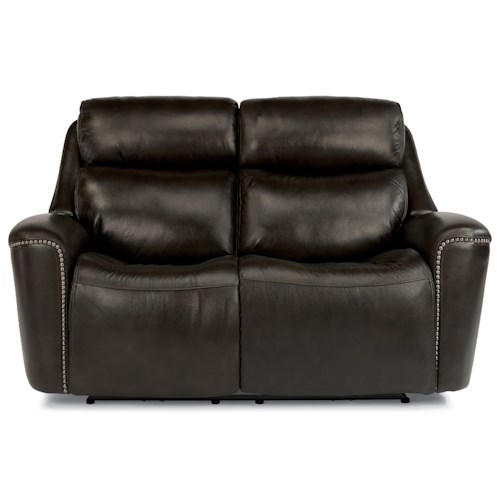 Flexsteel Latitudes-Mystic Power Reclining Loveseat with Adjustable Headrest and USB Ports