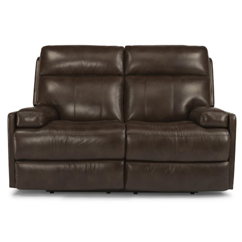 Flexsteel Latitudes-Nathan Contemporary Power Reclining Loveseat