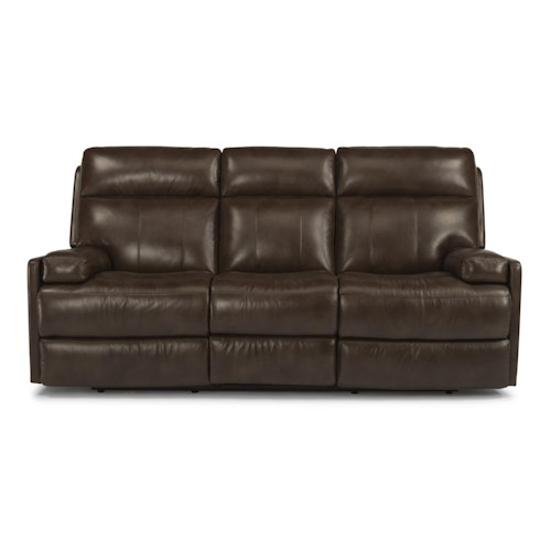 Flexsteel Latitudes-Nathan Contemporary Power Reclining Sofa