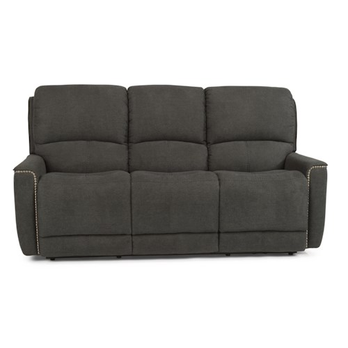 Flexsteel Latitudes-Pierson Transitional Power Reclining Sofa with Nailheads
