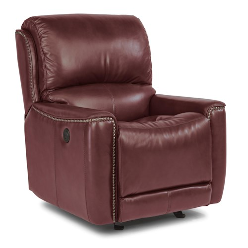 Flexsteel Latitudes-Pierson Transitional Power Glider Recliner with Nailheads