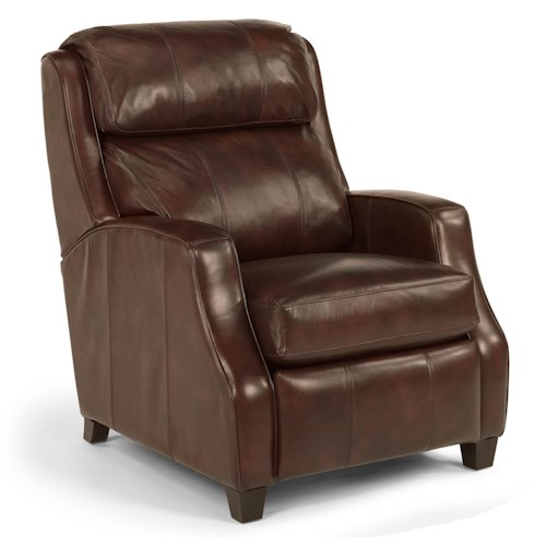 Flexsteel Latitudes-Pirouette Transitional Leather Recliner with Sloped Track Arms