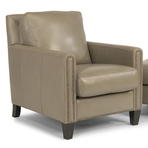 Flexsteel Latitudes-Reuben Transitional Chair with Nailheads