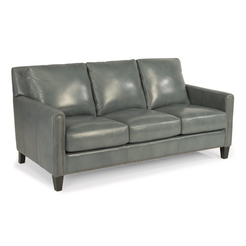 Flexsteel Latitudes-Reuben Transitional Sofa with Nailheads