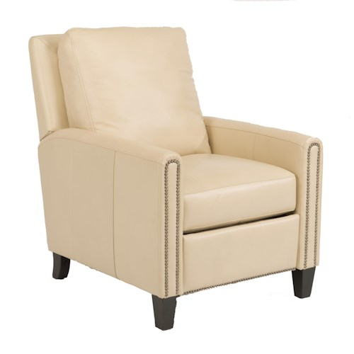 Flexsteel Latitudes-Reuben Transitional Power High Leg Recliner with Nailheads