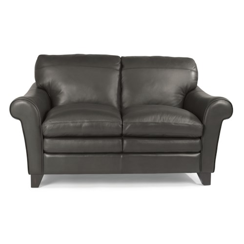 Flexsteel Latitudes-Sofia Rolled Arm Loveseat with Pillow Top Seats