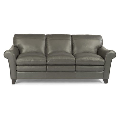 Flexsteel Latitudes-Sofia Rolled Arm Sofa with Pillow Top Seats