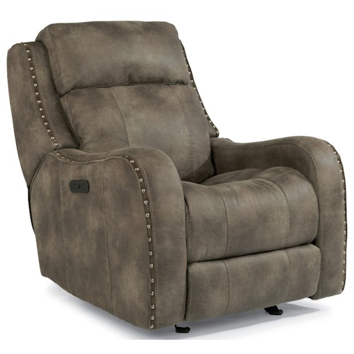 Flexsteel Latitudes-Springfield Power Glider Recliner with Power Adjustable Headrest and USB Port