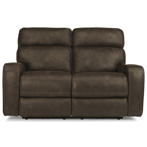 Flexsteel Latitudes-Tomkins Power Reclining Loveseat with USB Port and Power Adjustable Headrest