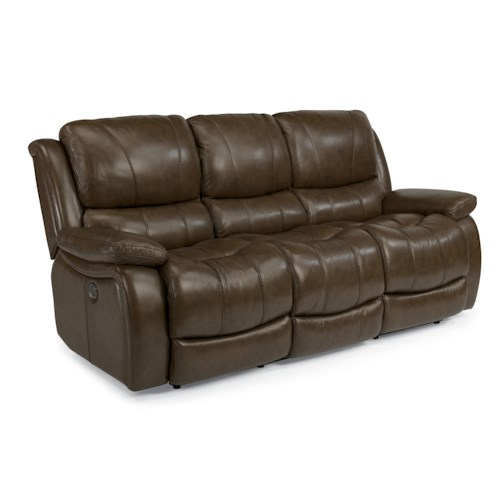 Flexsteel Latitudes-Zandra Lay Flat Power Reclining Sofa with Flip Down Center Back