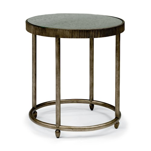 Flexsteel Legacy Transitional Lamp Table with Antiqued Mirror Top