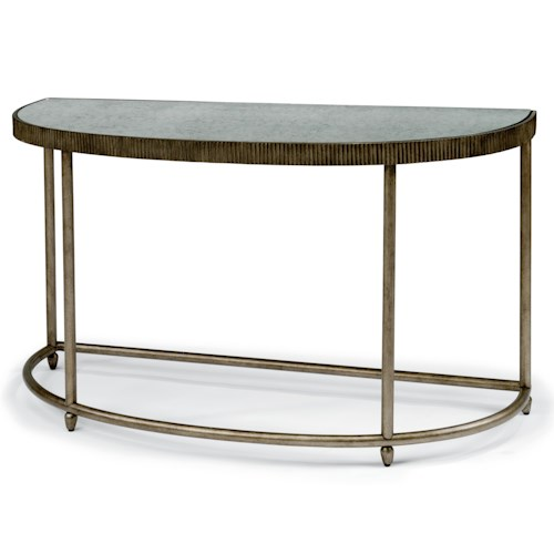 Flexsteel Legacy Transitional Sofa Table with Antiqued Mirror Top