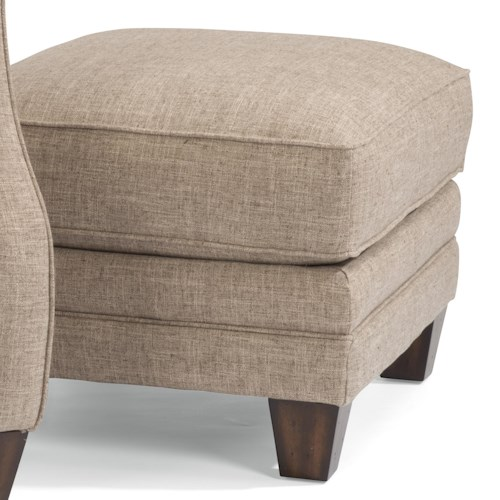 Flexsteel Lenox Transitional Ottoman