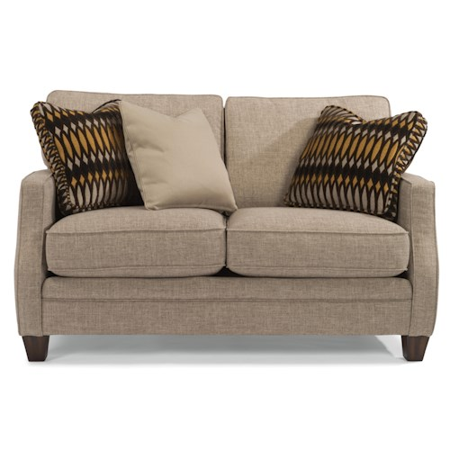 Flexsteel Lenox Transitional Loveseat with Scalloped Arms