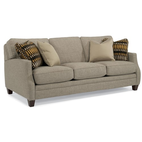 Flexsteel Lenox Transitional Sofa with Scalloped Arms