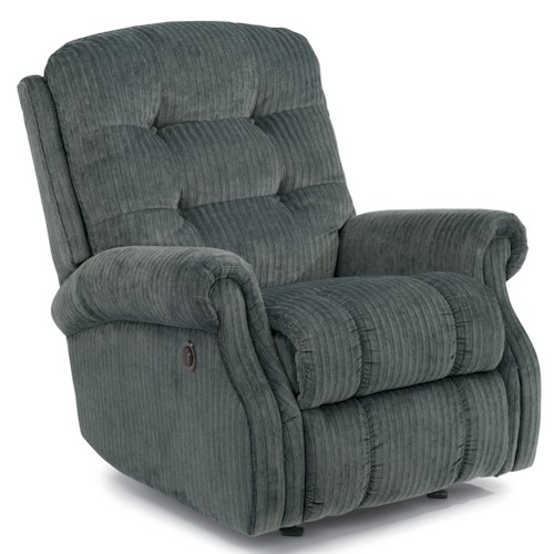 Flexsteel Mackenzi Casual Button Tufted Power Rocking Recliner (No Nailheads)
