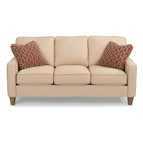 Flexsteel MacLeran Stationary Sofa with Reversible Seat Cushions and Welt Cord Accent