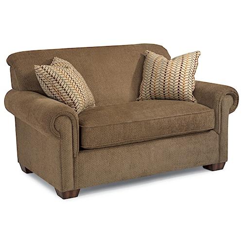 Flexsteel Main Street Rolled Arm Twin Sofa Sleeper
