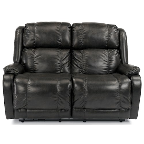Flexsteel Marcus Reclining Love Seat with Pillow Arms