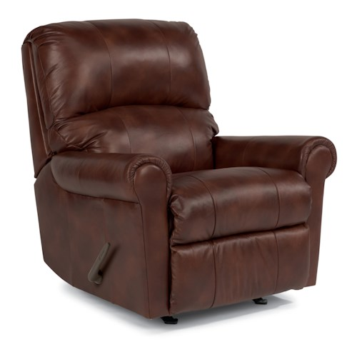 Flexsteel Markham Recliner with Rolled Arms