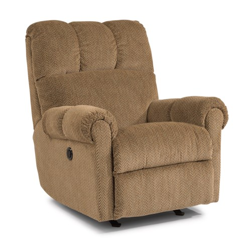 Flexsteel McGee Casual Power Rocker Recliner with Channel Tufted Back