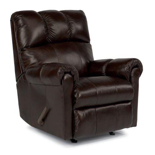 Flexsteel McGee Casual Rocker Recliner with Channel Tufted Back