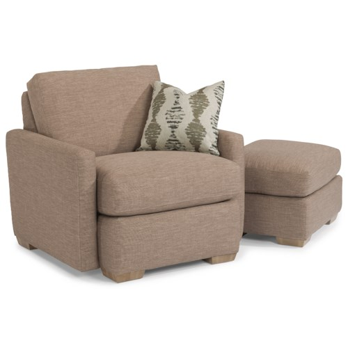 Flexsteel Michelle Casual Chair and Ottoman
