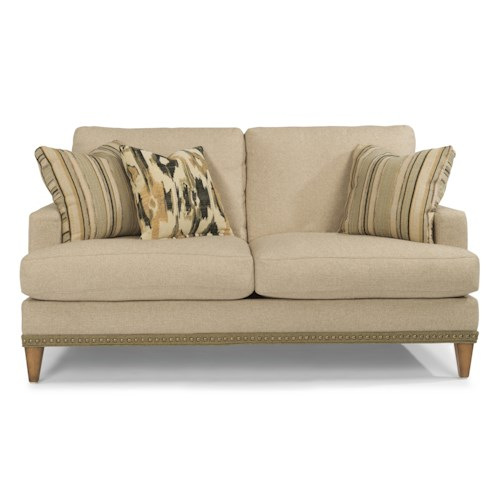 Flexsteel Ocean Loveseat with Nailheads