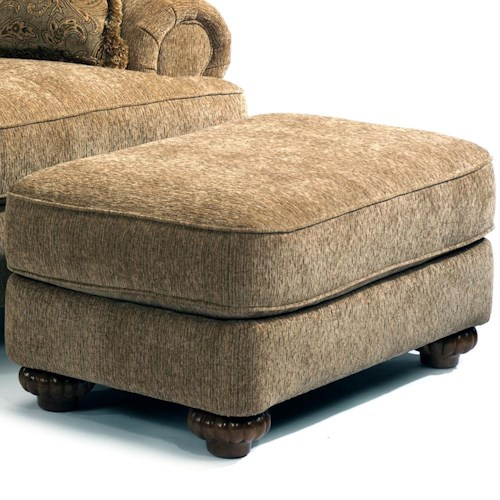 Flexsteel Patterson  Traditionally Designed Ottoman