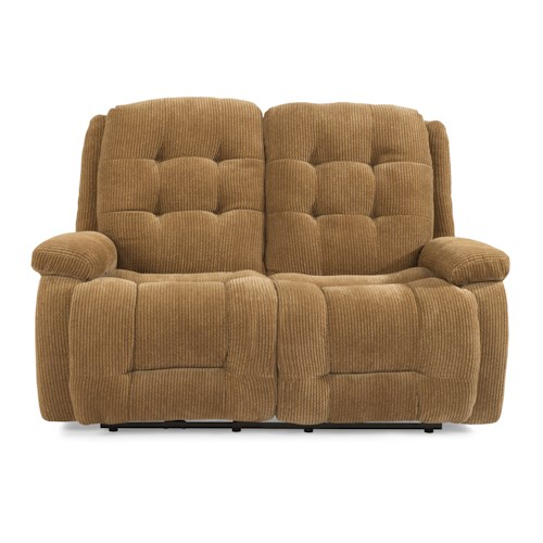 Flexsteel Paxton Power Reclining Loveseat with Button Tufting