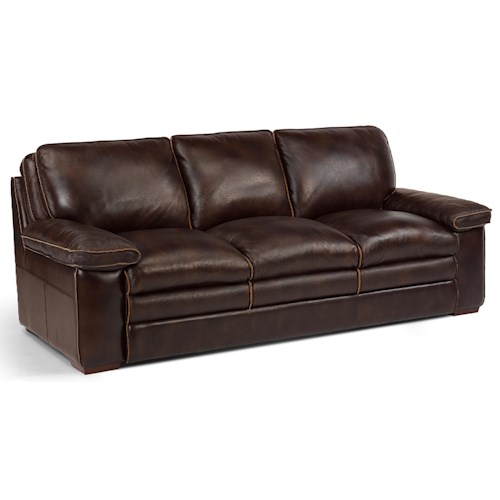 Flexsteel Latitudes - Penthouse Casual Sofa with Pillow-Top Seating
