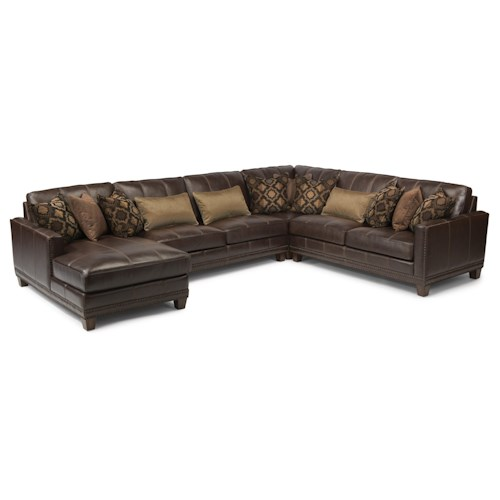 Flexsteel Latitudes - Port Royal Transitional Four Piece Sectional Sofa with LAF Chaise