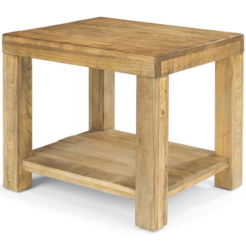 Flexsteel Sawyer End Table with Block Legs