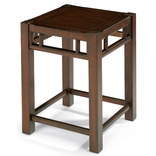 Flexsteel Sonoma Chair Side Table with Oak Top