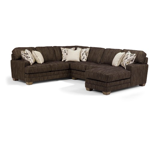 Flexsteel That's My Style <b>Customizable</b> 3 Piece Sectional Sofa with RAF Chaise