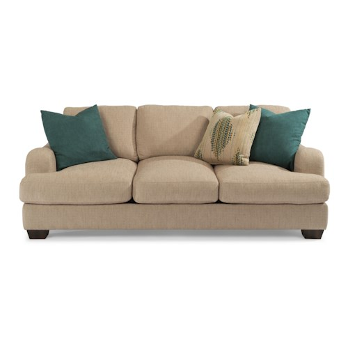 Flexsteel Vanessa Stationary Sofa with Loose Pillow Back