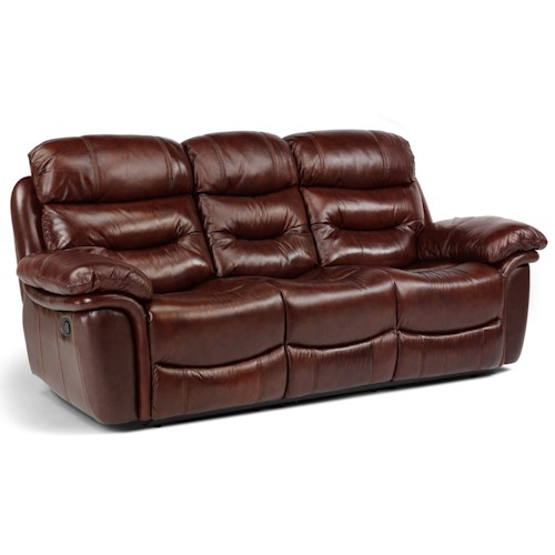 Flexsteel Latitudes - Westport Casual Power Double Reclining Three-Seat Sofa