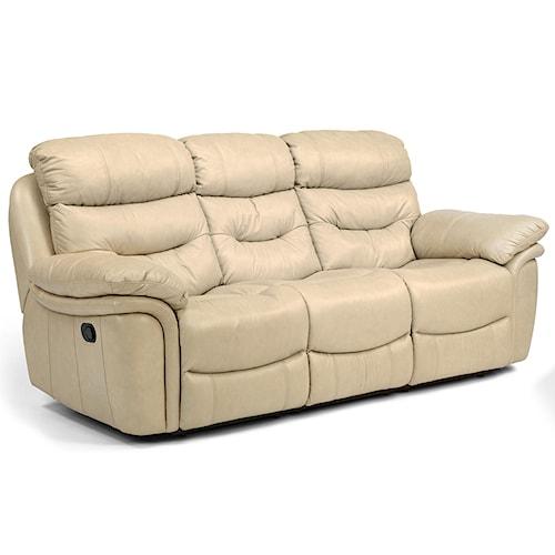 Flexsteel Latitudes - Westport Casual Power Double Reclining Three-Seat Sofa