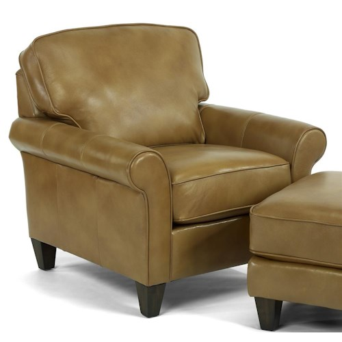 Flexsteel Westside Casual Style Rolled Arm Chair Furniture And Appliancemart Upholstered
