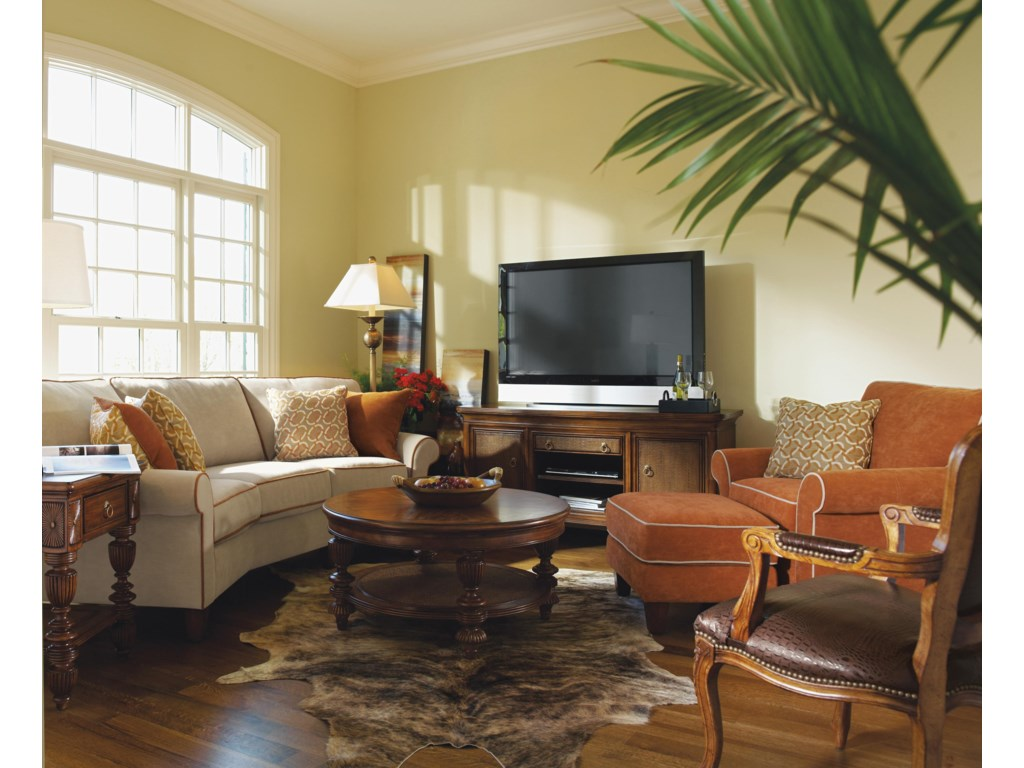 Shown in Living Room with Matching Chair and Ottoman