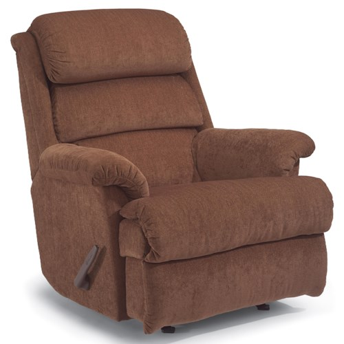 Flexsteel Yukon Recliner with Channel-Tufted Back Cushion