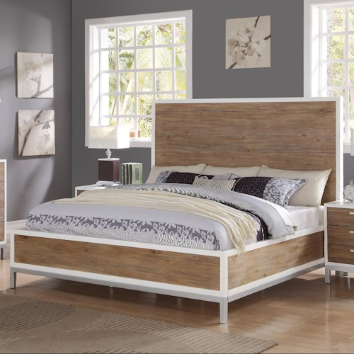 Flexsteel Wynwood Collection Oslo King Platform Bed with Square Feet