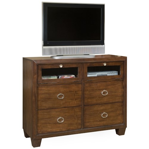 Morris Home Furnishings Augusta Transitional Media Chest with Drawers