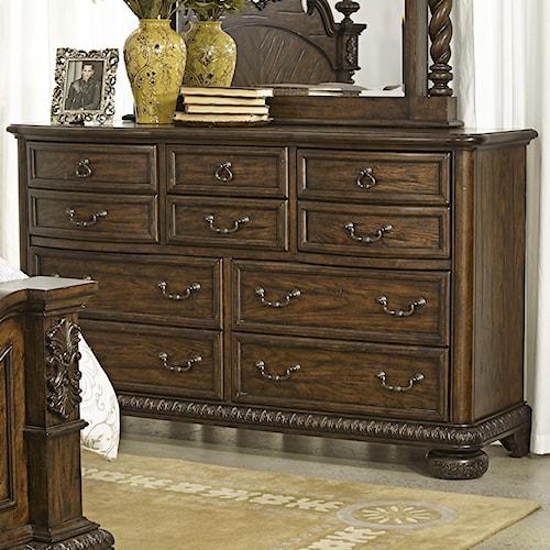 Morris Home Furnishings Yorktown Traditional 10 Drawer Dresser