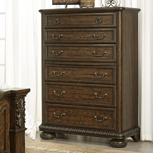 Morris Home Furnishings Yorktown Traditional 6 Drawer Chest