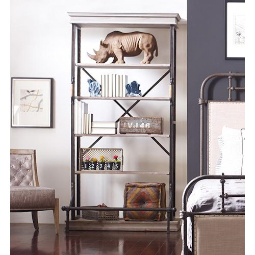 Four Hands Irondale Braxton Single Bookcase with 5 Shelves