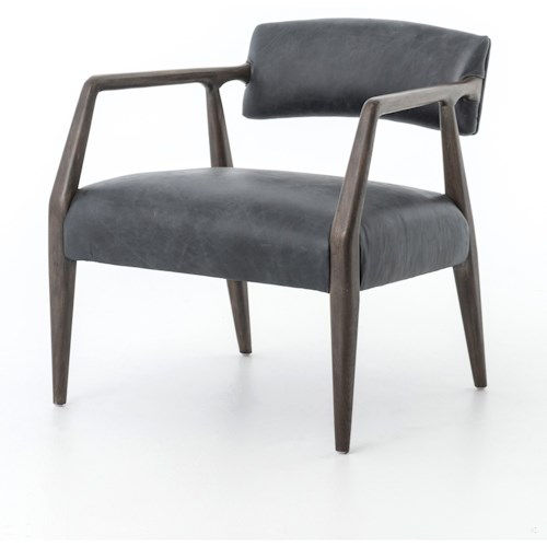 Four Hands Abbott Tyler Arm Chair Finished in Chaps Ebony